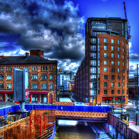 Buy canvas prints of Manchester Cityscape by Juha Remes