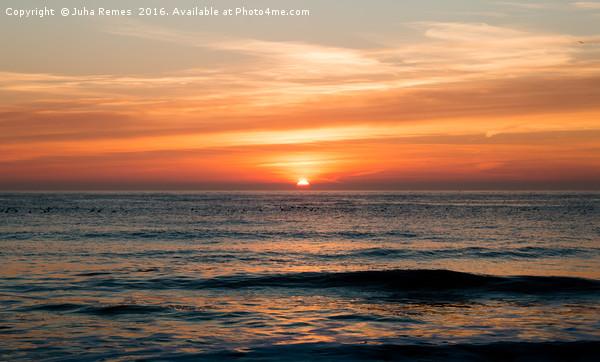 Sunrise at North Sea Framed Mounted Print by Juha Remes