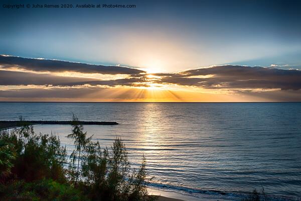 Playa del Ingles Sunrise Acrylic by Juha Remes