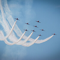 Buy canvas prints of Red Arrows Display by Wendy Williams