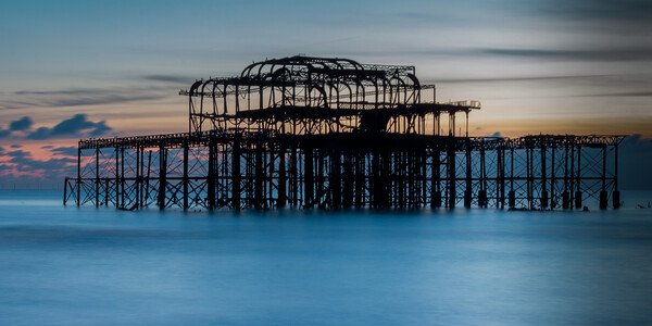 West Pier Brighton Canvas Print by Wendy Williams