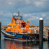 Buy canvas prints of Torbay Lifeboat in Brixham harbour by Wendy Williams