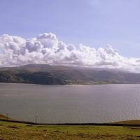 Buy canvas prints of Scenery over Great Orme, llandudno by leonard alexander