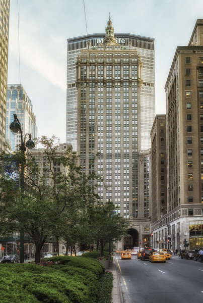 Park Avenue Midtown Framed Mounted Print by Belinda Greb