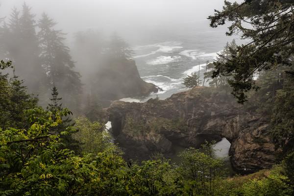 Fog Over Natural Bridges Canvas print by Belinda Greb