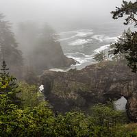 Buy canvas prints of Fog Over Natural Bridges by Belinda Greb