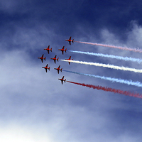 Buy canvas prints of Red Arrows by Scott Anderson