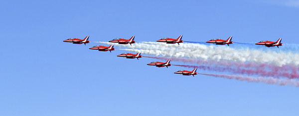 Red Arrows Canvas Print by Scott Anderson