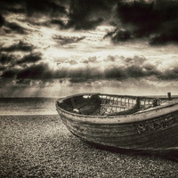 Buy canvas prints of Brighton Beach Boat by Scott Anderson