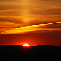 Buy canvas prints of Sunset over Aylesbury Vale with rare Sun Pillar by Photoharvester Photography