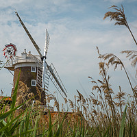 Buy canvas prints of Cley Windmill Cley next the Sea Norfolk England  by Chris Warren