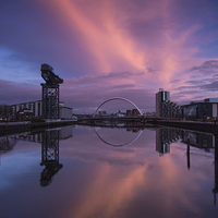 Buy canvas prints of Glasgow at sunset ! by Peter Mclardy