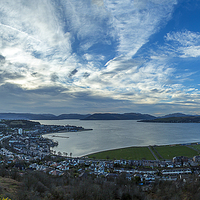 Buy canvas prints of Greenock / Gourock Panorama by Peter Mclardy