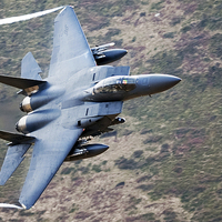 Buy canvas prints of F-15E strike Eagle by Andrew chittock