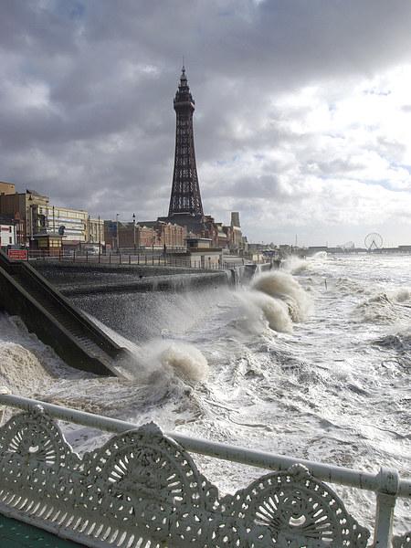 Blackpool Storm Canvas Print by Victor Burnside
