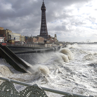 Buy canvas prints of Blackpool Storm by Victor Burnside