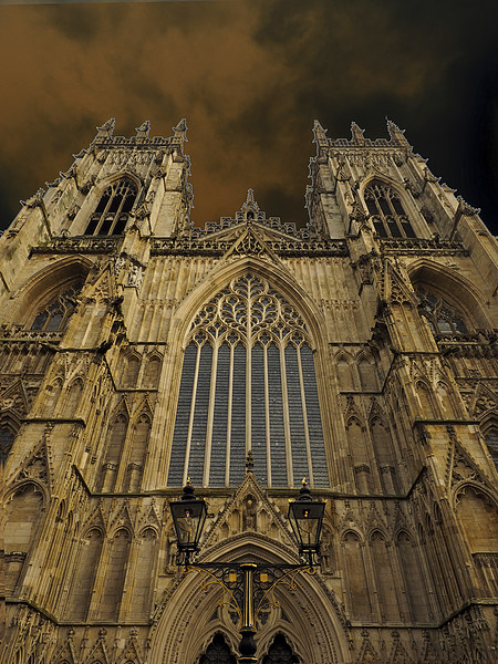 York Minster Canvas Print by Victor Burnside