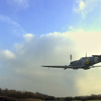Buy canvas prints of Spitfire by Victor Burnside