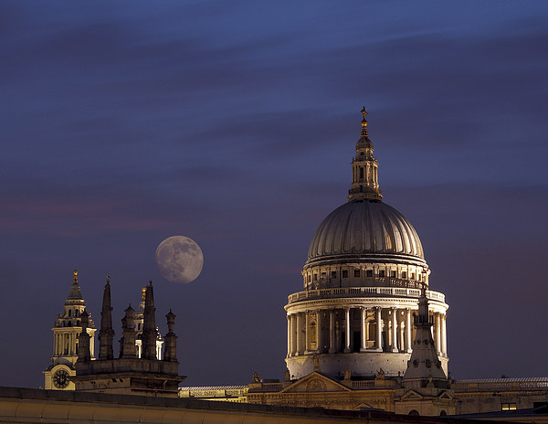 St Pauls Canvas Print by Victor Burnside