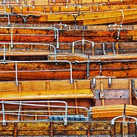 Buy canvas prints of Rowing Boats  by Victor Burnside