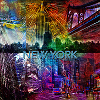 Buy canvas prints of New York Collage by Randi Grace Nilsberg