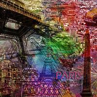Buy canvas prints of Paris Collage by Randi Grace Nilsberg