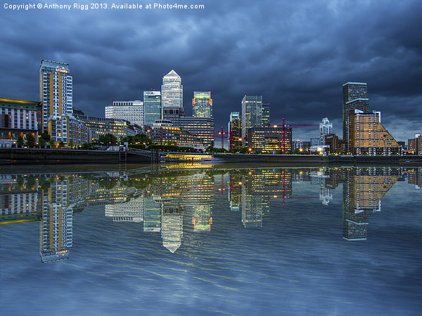 Docklands London Canvas print by Anthony Rigg
