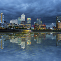 Buy canvas prints of Docklands London by Anthony Rigg