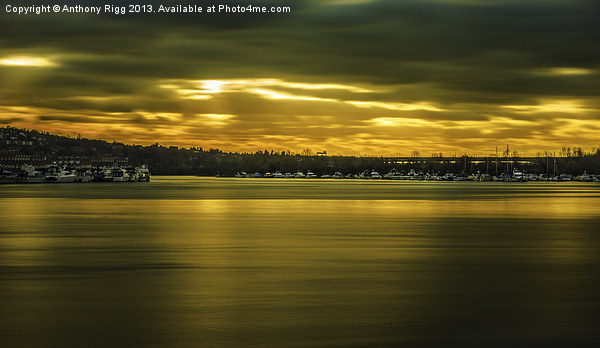 Golden River Canvas print by Anthony Rigg