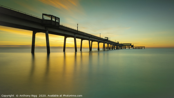 Deal Pier  Canvas Print by Anthony Rigg