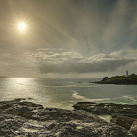 Buy canvas prints of Godrevy Lighthouse St Ive's  by Anthony Rigg