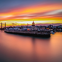 Buy canvas prints of Harbour Sunset by Anthony Rigg