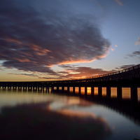 Buy canvas prints of Tay Rail Bridge, Dundee by Jamie Whyte