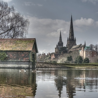 Buy canvas prints of Lichfield Cathedral by Mickey's Photography