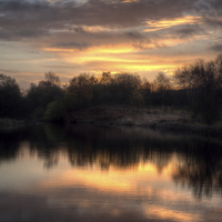 Buy canvas prints of Chasewater Sunrise by rawshutterbug