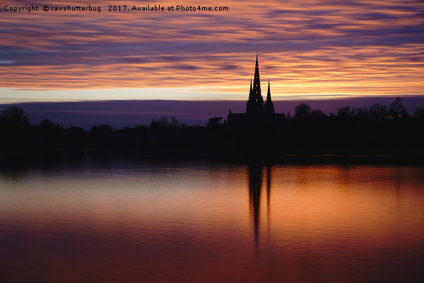 Sunset Reflection At The Lichfield Cathedral Canvas Print by rawshutterbug