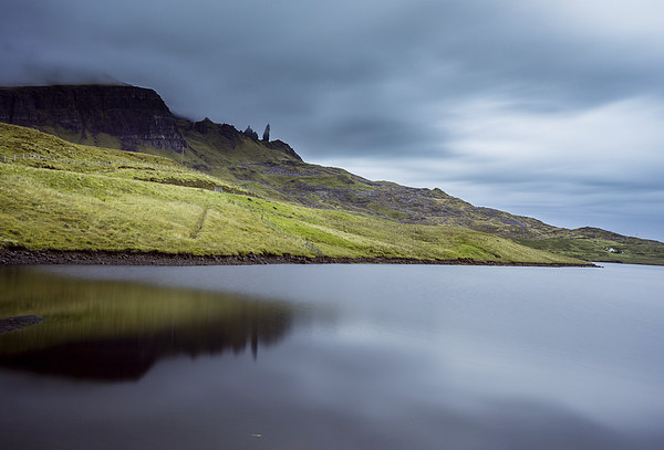 Old man of storr reflection Canvas Print by adam rumble