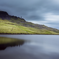 Buy canvas prints of  Old man of storr reflection by adam rumble