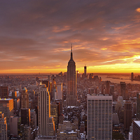 Buy canvas prints of New York Sunset by Robert Strachan