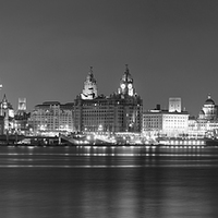 Buy canvas prints of Liverpool Waterfront Panorama by Garry Smith