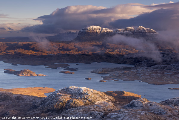 Suilven from Stac Pollaidh. Framed Print by Garry Smith