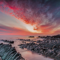 Buy canvas prints of North Devon Sunset by Tracey Yeo. Devon Photography