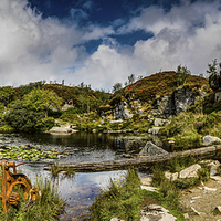 Buy canvas prints of Haytor Quarry Dartmoor by Tracey Yeo. Devon Photography