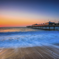 Buy canvas prints of Paignton Beach Sunrising. by Tracey Yeo. Devon Photography