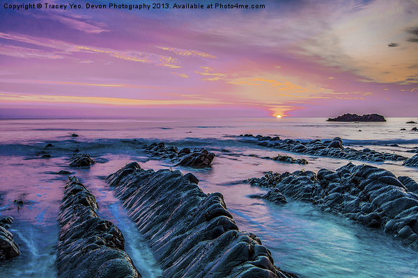Purple Sunset Canvas print by Tracey Yeo. Devon Photography