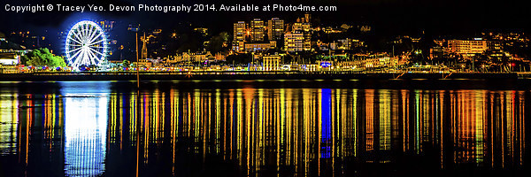Torquay Reflections Canvas print by Tracey Yeo. Devon Photography