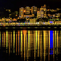 Buy canvas prints of Torquay Reflections by Tracey Yeo. Devon Photography