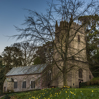Buy canvas prints of Cockington Church Torquay by Tracey Yeo. Devon Photography
