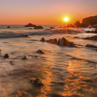 Buy canvas prints of  Hartland Gold by Tracey Yeo. Devon Photography