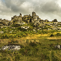 Buy canvas prints of  Hound Tor on Dartmoor by Tracey Yeo. Devon Photography